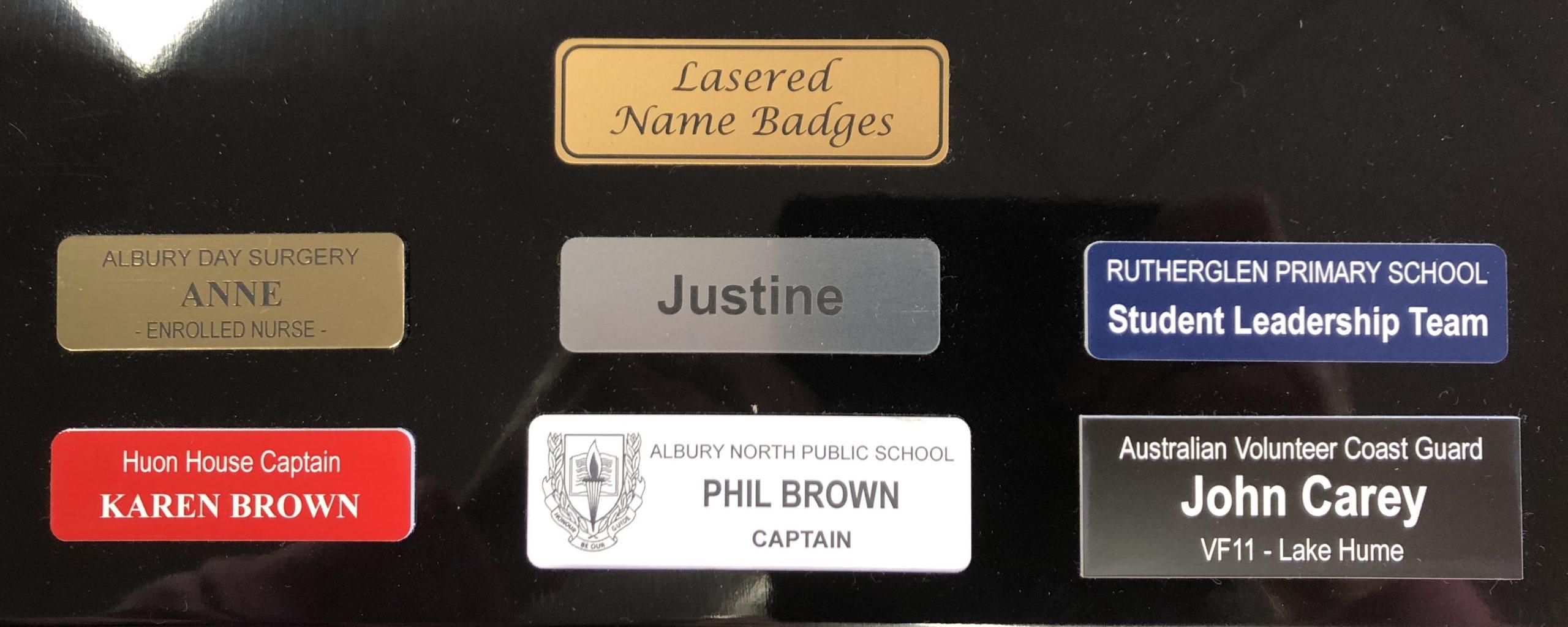 Laser Name Badges